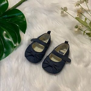 Carters blue baby maryjanes size 0-3 months